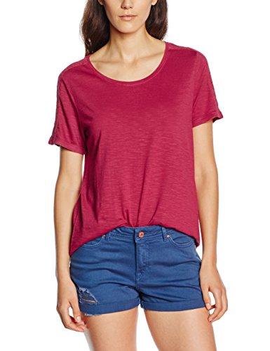 s.Oliver Mit Eingesetzter Spitze, T-Shirt Femme Rose (summer berry 4622)