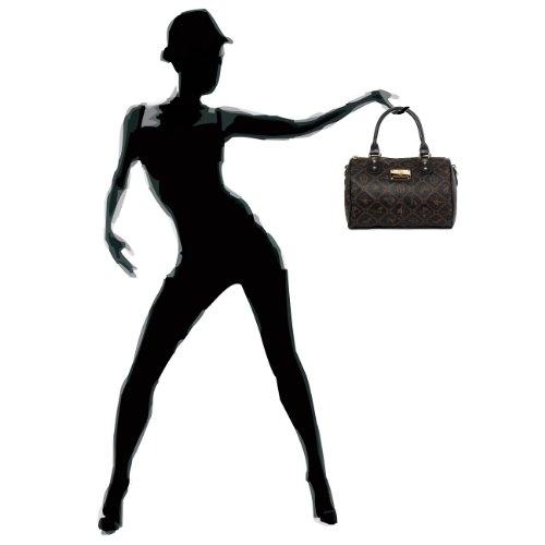CASPAR klassische Damen Tasche / Handtasche / Henkeltasche / Bowlingtasche - 3 Farben schwarz