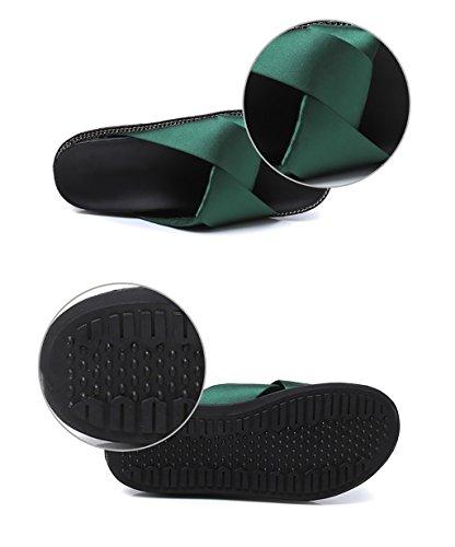 CHAOXIANG Pantofole Da Donna Antiscivolo Con tacco Ciabatte Piatte Sandali Da Surf Nuova Estate Ciabatte Spiaggia ( Colore : Verde , dimensioni : EU38/UK5/CN39 ) Verde