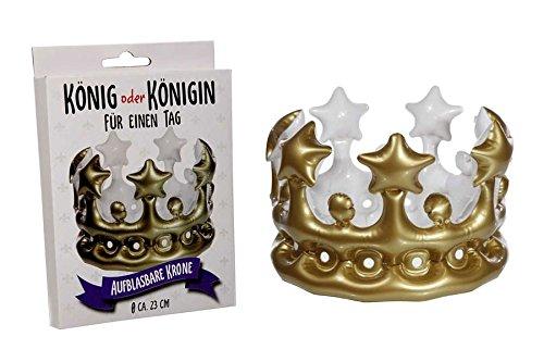 Karneval König Königin Kostüm Und - Aufblasbare Krone König Königin für einen Tag Kostüme Fasching Karneval Zubehör