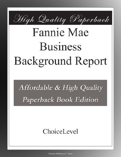 fannie-mae-business-background-report