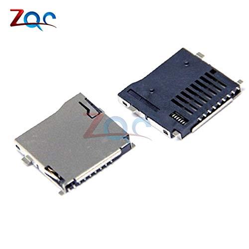 10pcs TransFlash TF Micro Memory SD-Karte Self-eject Socket Plug Adapter -