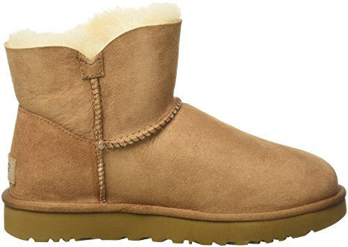UGG Australia Mini Bailey Button, Scarpe a Collo Alto Donna Marrone (Chestnut)