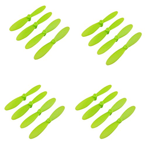 Sharplace 4 Prop Propeller Prop CW / CCW for JJRC H8 Mini RC Helicopter Spare Part - Green