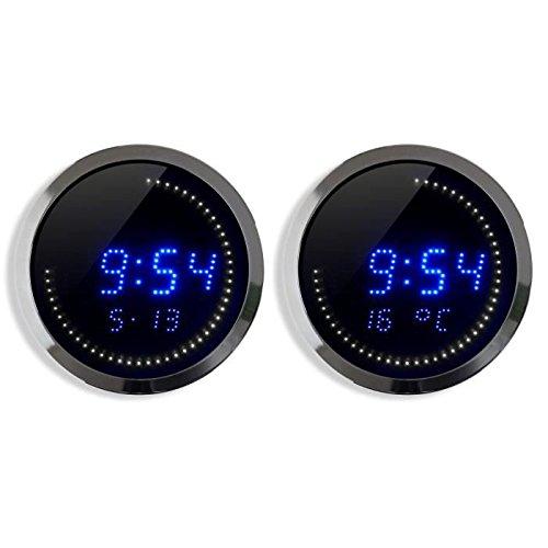 Orium 11815 Horloge LED Alu Diamètre 30 cm