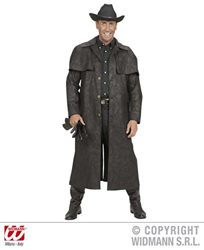 WIDMANN XL Black Duster Coats Kostüm XL für Wild West Cowboy Fasching