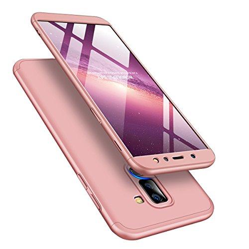 Schutzhülle für Samsung Galaxy A6 2018, 360 Grad, ultradünn, Hart-PC, inkl. Displayschutzfolie, Samsung Galaxy A6 2018, Rose Gold - Basic-kissen-abdeckungen