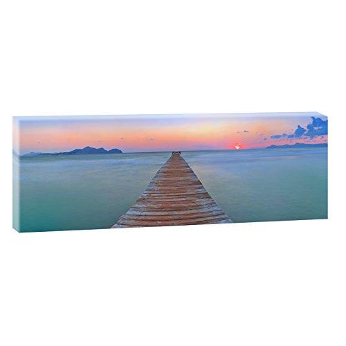 Mallorca-Playa de Muro | Panoramabild im XXL Format | Trendiger Kunstdruck auf Leinwand | Verschiedene Größen (150 cm x 50 cm)