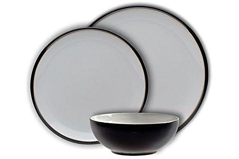 Denby Everyday 12 Piece Dinner Set - Black