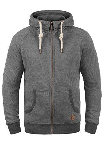 !Solid Vitu Herren Sweatjacke Kapuzenjacke Hoodie mit Kapuze und Reißverschluss aus 100% Baumwolle, Größe:S, Farbe:Grey Melange (8236)