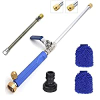 1Easylife Hydro Jet Power Washer Wand - Power Water Jet Washer Spray Nozzle with 2 Spray Nozzle for car washes, garden irrigation
