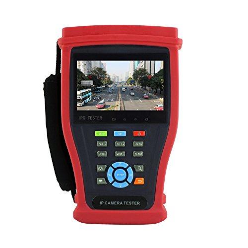 TSN H.265/H.2644K IP Kamera Tester 4MP AHD CVI 5MP TVI CCTV Kamera Tester CVBS Analog 1080P HD SDI/ex-sdi Kamera Monitor mit UTP-Kabel-Test, HDMI Input/Output, PoE Leistung, Rapid ONVI, UTP-Kabel-Tester, RJ45Kabel TDR Testen, integriertes WiFi, Erstellen WiFi Hotspot