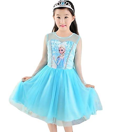 Inception pro infinite taglia 110 - 3 - 4 anni - costume - carnevale - halloween - elsa - bambina - colore azzurro - immagine - stampa - elsa - frozen