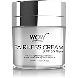 Wow Fairness Cream Spf 20 Pa++ Infused With Saffron Mulberry,Liquorice Extract & Alpha Arbutin 50Ml