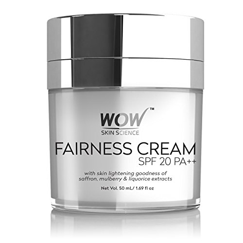 NEW! WOW Fairness Cream - SPF 20 PA++ - infused with Saffron Mulberry,liquorice Extract & Alpha Arbutin-No Paraben & Mineral Oils- 50ml
