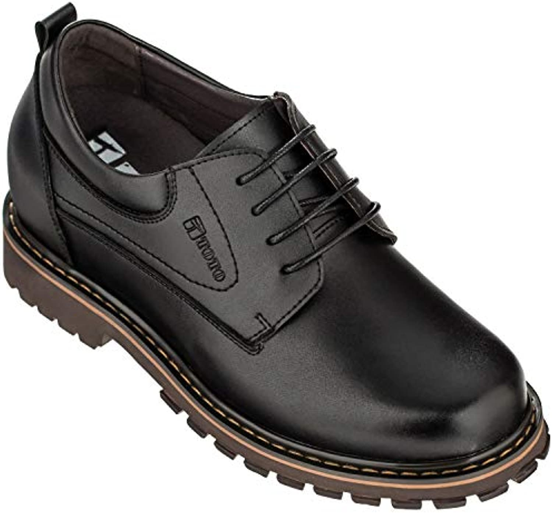 F-TOTO 70289-(3 7,62 7,62 7,62 cm, altezza Inches)-Tappetto aumentare ascensore scarpe, Coloreeee  nero, con lacci, punta tonda) | Fashionable  5a2d7d