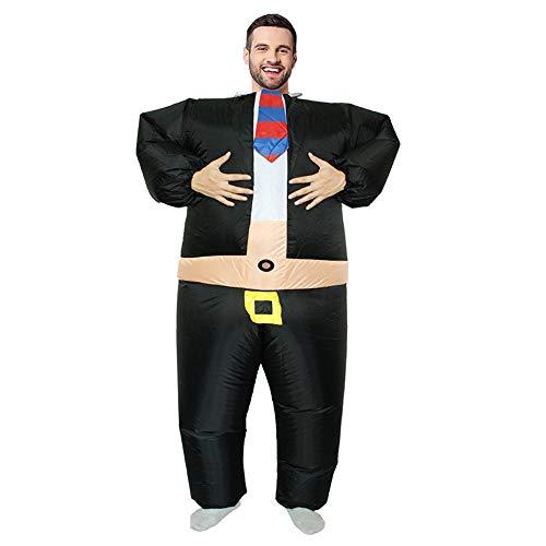 JJAIR Fat Boss Disfraces de Halloween Disfraces Inflables Disfraz de Lucha de Sumo Inflable