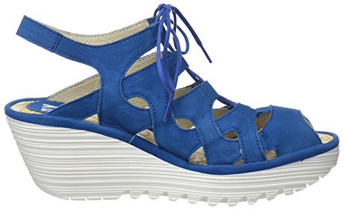 Fly London Yexa916fly, Sandali a Punta Aperta Donna Blu (Electric Blue White Sole)