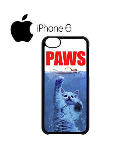 Paws Cat Kitten Meow Parody Swag Mobile Phone Case Back Cover Hülle Weiß Schwarz for iPhone 6 White Schwarz
