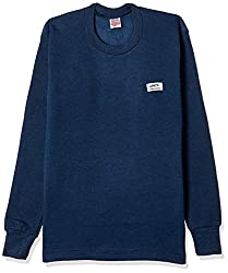 Rupa Thermocot Womens Plain / Solid Synthetic Thermal Top (VOLCANO_Blue_85)