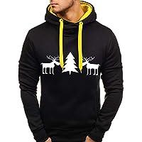 Auifor Herren Herbst Winter Pullover Top gedruckt Weihnachten Sweatshirt Outwear Bluse