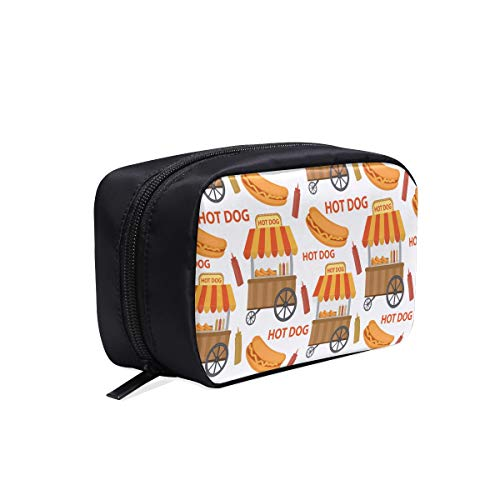 Netter Hotdog im Brötchen-Karikatur-tragbaren...