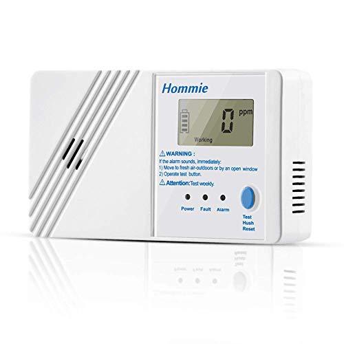 Hommie Detector Monóxido de Carbono Sensor de CO de 10 años con...
