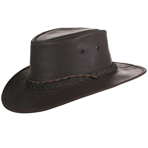 Tracker Bushman Lederhut Hut Herren | Cowboy Hut I Outdoor Hut Leder wasserdicht I Safari Hut I Lederhut I Safari/Outdoor/Australien/Outback I handgefertigt I Wachs