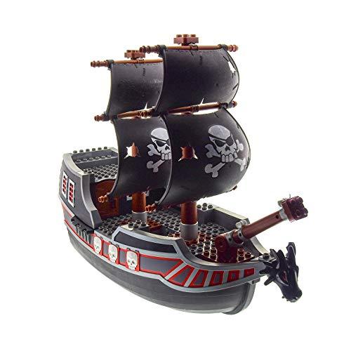 Bausteine gebraucht 1 x Lego Duplo Piraten Schiff Gross schwarz Boot ohne Figuren ohne Feuer Herrscher der Meere 54850 54856 55984 55186 52198 54066 7880