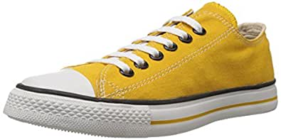 Converse Unisex Yellow Canvas Sneakers - 11 UK (0104192YL)