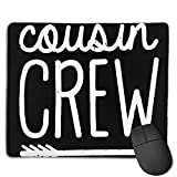 Cousin Crew Locking Mouse Pad Anti-Slip Soft Gaming Rubber Mousepads