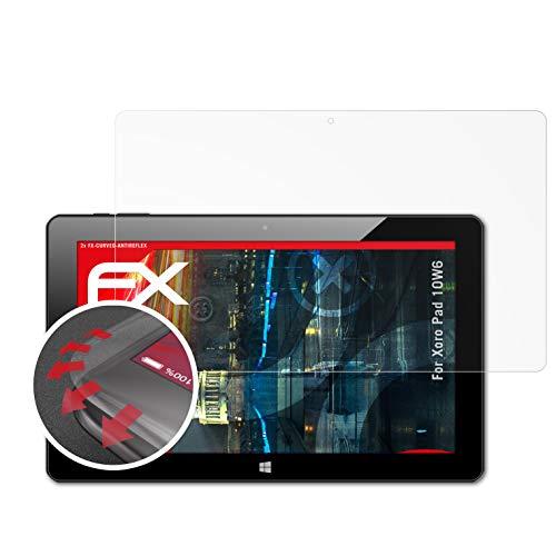 atFolix Schutzfolie passend für Xoro Pad 10W6 Folie, entspiegelnde & Flexible FX Bildschirmschutzfolie (2X)