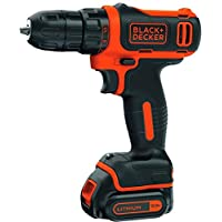 Black and Decker Drill Driver,10.8V Compact Cordless Lithium,BDCDD12-B5