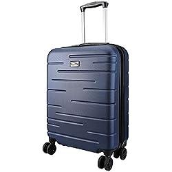 CX Luggage Maleta de Cabina Superligera con Exterior Rígido de ABS Equipaje de Mano con 4 Ruedas Bullet Points: (Mitternachtsblau)
