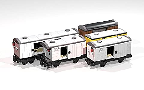 Collection of eight 4- and 8-Wheel Reefers and Box Cars: Lego MOC building instructions (Lego Train MOC