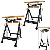 TrutzHolm Werkbank höhenverstellbar Rollenbock Klappbock V-Rollen klappbar 200 kg Werktisch 4 in 1