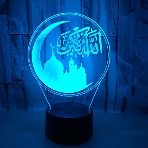 Stimmungs Nachtlicht,3D Led Tischlampe, Geburtstagsgeschenk Neben Desktop Halloween Farbwechsel Lampe Mit Glitter Illusionschlafen Beleuchtung Tochter Ist Begeistert