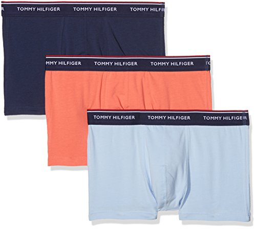 a96264604 Tommy Hilfiger 3p Trunk, Bóxers Para Hombre, Multicolor (Chambray  Blue/Peacoat/