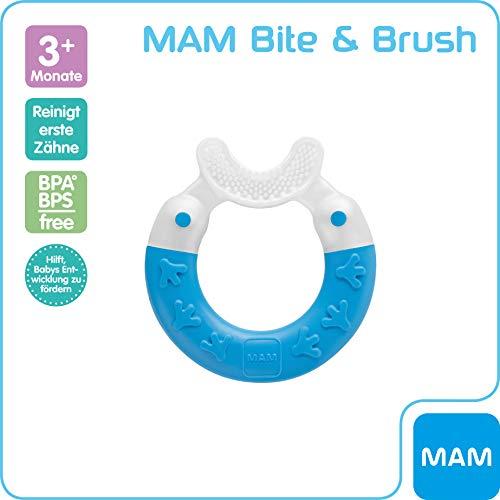 MAM 66807412 - Bite & Brush, Beißring für Jungen