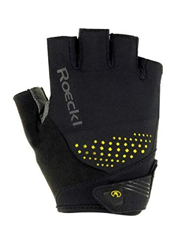 Roeckl Herren Iberia Handschuhe, schwarz/Gelb, 9.5