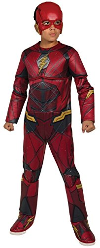 DC - Justice League Movie Kostüm Flash Premium Kinder, M (Rubies Spain 630977-m)
