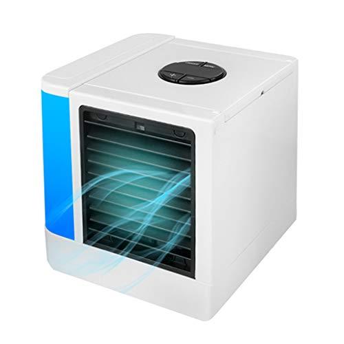 FBGood Mini Mobile Klimaanlage, Sommer Tragbar Desktop Luftkühler Büro USB Elektrischer Ventilator Haushalts Luftbefeuchter Klimageräte Lüfter Luftreiniger Verbesserte Mute + EU Ladegerät