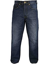Raphael Valencino Mens Tapered Fit Jeans by with Contrasting Stitching and Faded Design