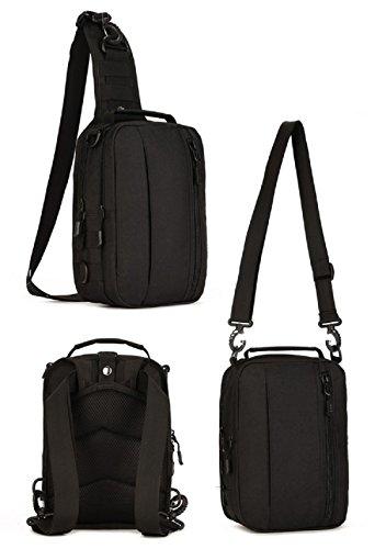 Imagen de hombre mujer bolsa táctico militar bolsa de pecho bolso al hombro de moda bolsa de aire libre para ocio deporte senderismo bolsa , negro alternativa