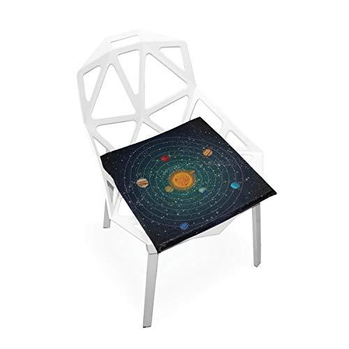 Enhusk Erstaunliche Solar System Benutzerdefinierte Weiche Rutschfeste Platz Memory Foam Stuhlkissen Kissen Sitz Für Home Küche Esszimmer Büro Schreibtisch Möbel Innen 16x16 Zoll -