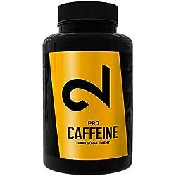 DUAL Pro CAFFEINE | 100% Reines Koffein | Extrem Hochdosiert | Premium Qualität | Koffein Kapseln | Koffeintabletten hochdosiert | 120 Vegane Kapseln | Vegan & Glutenfrei | Hergestellt in EU