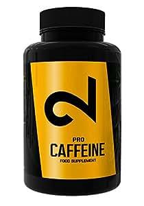 DUAL Pro CAFFEINE | 100% Caffeina Pura | 120 Capsule Vegane| Certificato Di Laboratorio | Capsule Di Caffeina |Alte Dosi|Senza Additivi Aggiuntivi, Vegan E Senza Glutine|Fornitura 4 Mesi| Made In EU