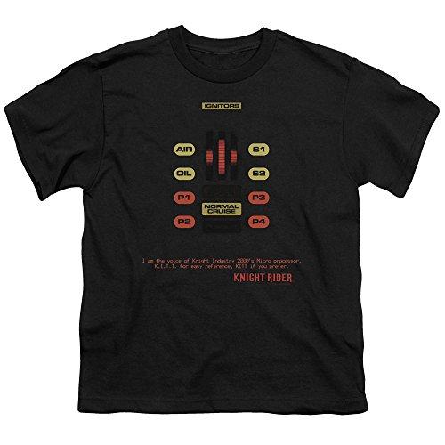 2Bhip Knight Rider Sci-Fi TV Series Hasselhoff Kitt Consol Big Boys Black T-Shirt Tee