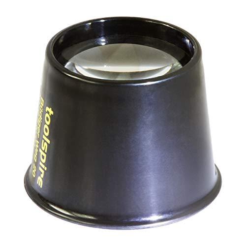 toolspire Feinmechanikerlupe Lp-10x 8-fache Vergrösserung, besonders lichtstarke 29mm-Linse, hohe Tiefenschärfe