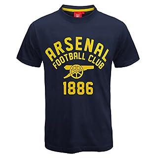 Arsenal FC - Herren T-Shirt mit Grafik-Print - Offizielles Merchandise - Geschenk für Fußballfans - Marinegelb - 3XL